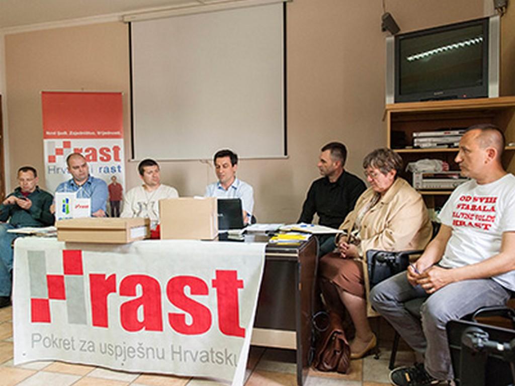 Predstavnici županijskih organizacija HRAST-a u Novigradu na Dobri